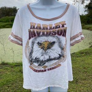 Harley-Davidson Eagle Ladies Bling Fancy Shirt
